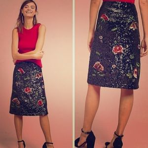 Sequin pencil skirt from Maeve Anthropologie
